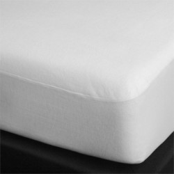 Hotel Vinyl Molton Fitted Sheet White